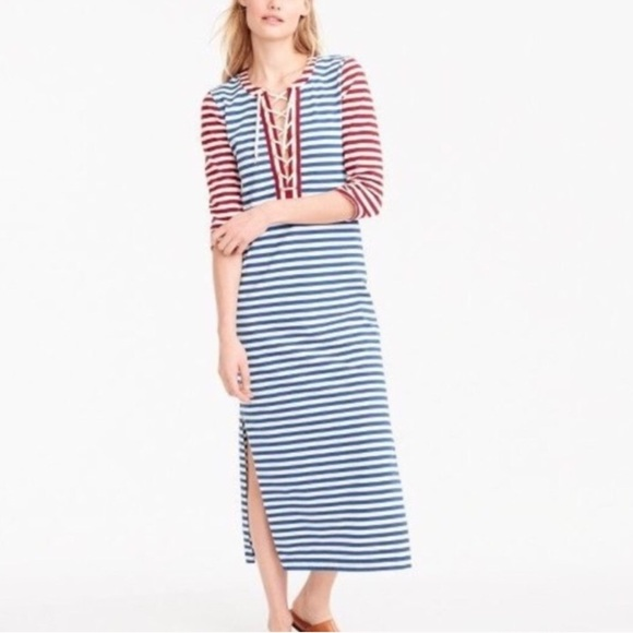 Nautical Maxi Dress with Sleeves