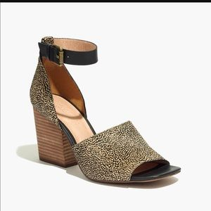 Madewell Alena Ankle Strap Sandal in Calf Hair