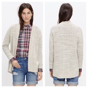 Madewell Seastar Slub Cardigan Sweater-Tan, Med