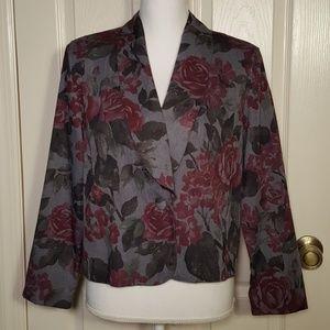 Vintage Maggie Lawrence Collection Floral Blazer