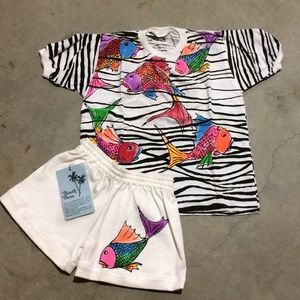 Other - ❗️SALE❗️(Kids) Hand-Painted Short/Top Bali NWOT