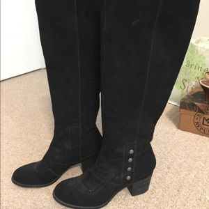 Shoes - Black shade boots with nickel hardware.. Knee High