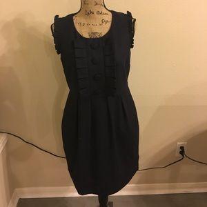 Dresses & Skirts - Navy dress button detail