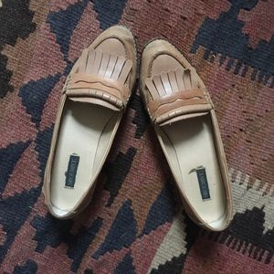 Shoemint leather loafers slides
