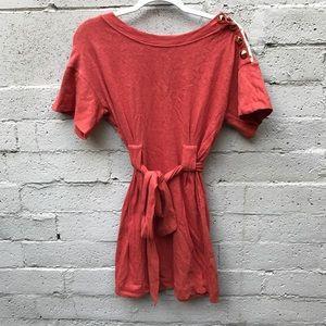 3.1 Phillip lim Studded burnt orange belted dress