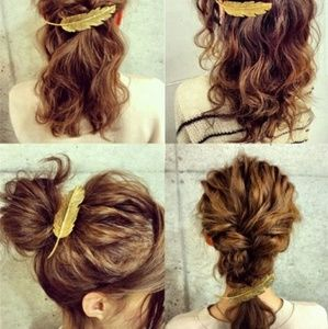 Gold leaf hair accessorie