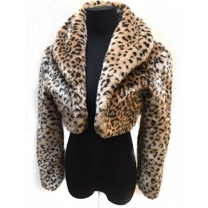 Vintage leopard coat bolero jacket