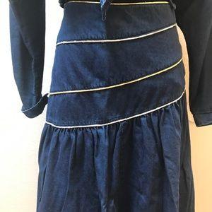 Vintage Dresses - Vintage Denim skirt top set / dress