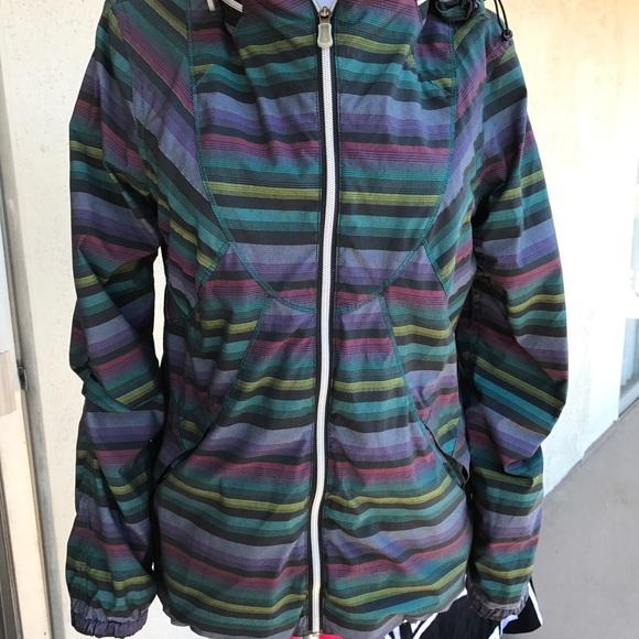 000d41b6eba lululemon athletica Jackets & Blazers - Lululemon Run Hustle Jacket Poncho  Multi Stripe 8