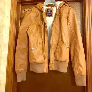 Jackets & Blazers - Faux leather short jacket