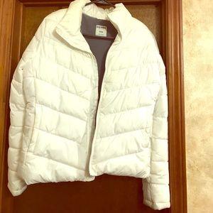White old navy bomber jacket