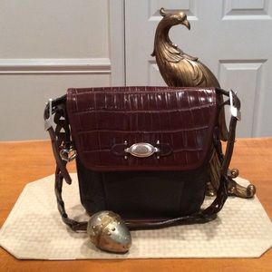 "NEW, ALL LEATHER ""BRIGHTON"" SHOULDER BAG"