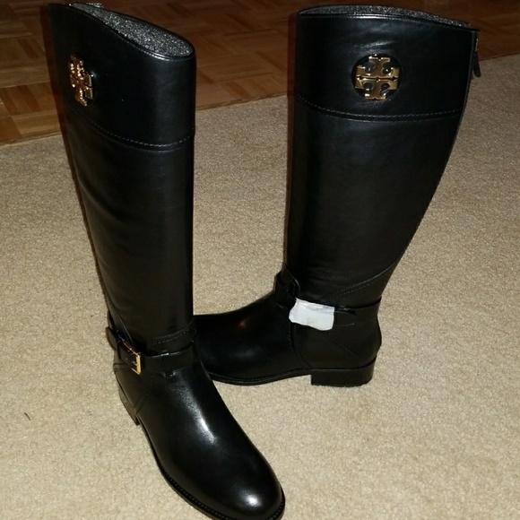 2f981335385 NIB Tory Burch Adeline Riding Boots WIDE CALF. M 59ce60a641b4e0d90b00c999