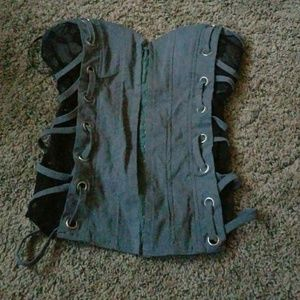 Tops - Black and grey corset