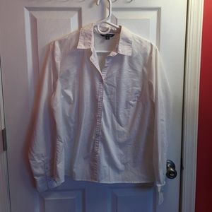 White button down shirt.