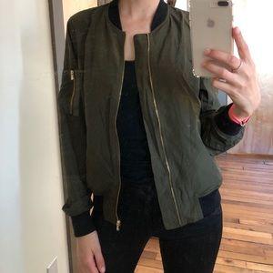 ZARA army green bomber jacket size M