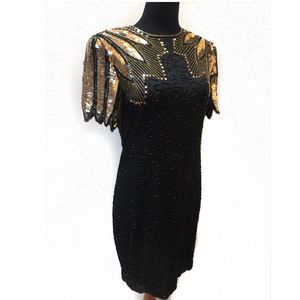 100% silk Sequins cocktail dress