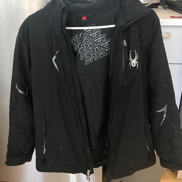 4a2afb1dd Spyder Ski Jacket Boys size 16 black