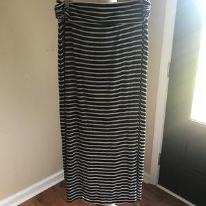 J. Crew Stripe Jersey Maxi Skirt.  Size XL