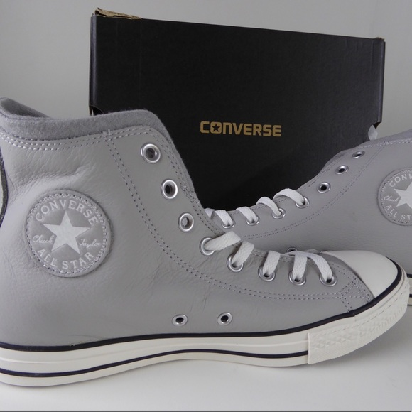 NIB Wool Lined Chuck Taylor All Star Leather Shoes NWT