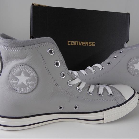 b655219add16 NIB Wool Lined Chuck Taylor All Star Leather Shoes