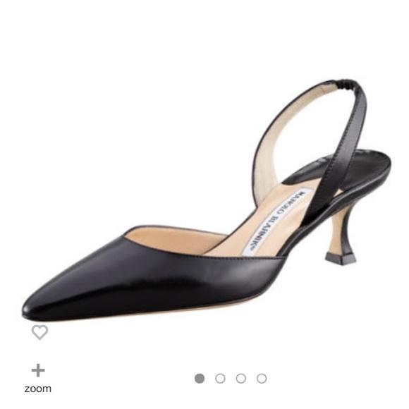 e5e0816fd19f4 Vintage Manolo Blahnik Carolyne Leather Slingback.  M_59ce66c7bf6df5093500dbdf