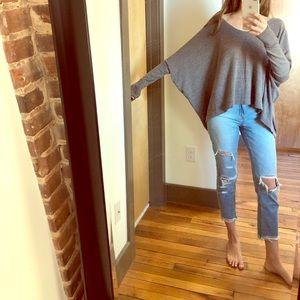 poncho asymmetrical knit sweater size m