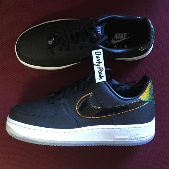 58da0e51dfba02 Nike Air Force 1  07 PRM Black Sneakers Shoes New