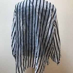 Vintage Tops - Vintage Sheer striped top blouse