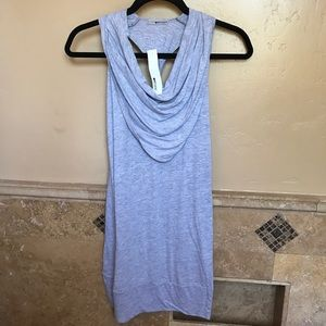 LAmade grey dress; cowl and razorback
