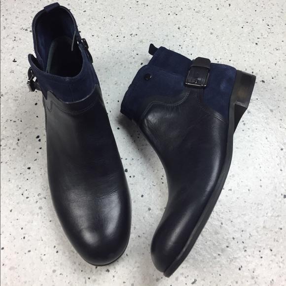 00cde41e81 Franco Sarto Shoes   Marta Navy Blue Ankle Boots Sz 75   Poshmark