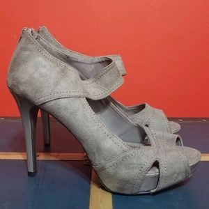 🔥FINAL PRICE 🔥Charlotte Russe Gray Suede Heels