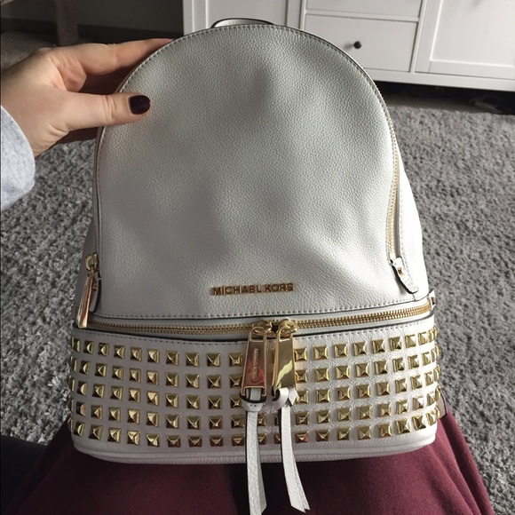 2796028e596e2f Michael Kors Rhea Large Studded Backpack. M_59ce7f434225bed6fc01404c. Other  Bags ...