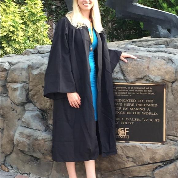 Oak Hall Other | Black Bachelors Graduation Gown | Poshmark