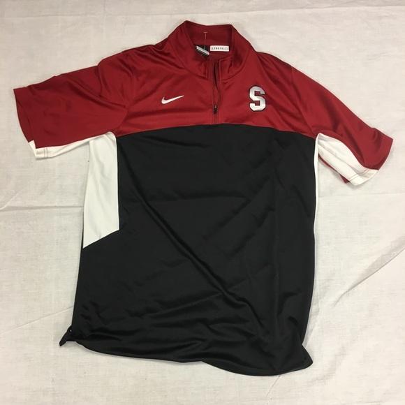 d8ac702f3 Stanford Cardinal Nike Elite 1 4 Zip Warm-Up Shirt.  M 59ce810d5c12f8eab5014307