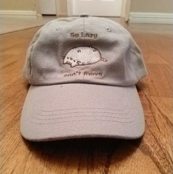 a6abd4cc65f NWT Kawaii Adjustable Lazy Pusheen Cat Dad Cap Hat