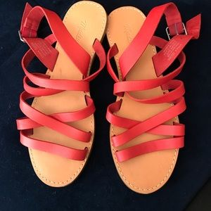 9494ea9e880 Madewell Shoes - NWOB Madewell red strappy flat sandals