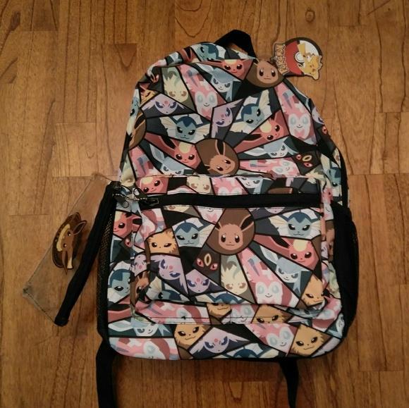 11155c52ec26 NWT Canvas Pokemon Eevee Evolution Backpack