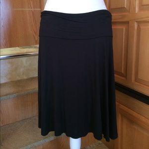 A.N.A A-line Black Circle Skirt L