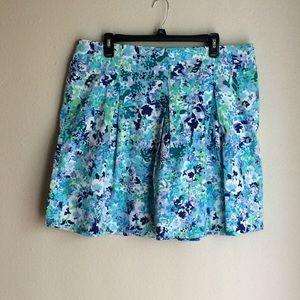 New York & Company-Timeless Flared Floral Skirt