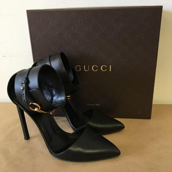 d5047b11420 Gucci Shoes - Gucci Black Leather Nero Lifford size 39.5 Heels!