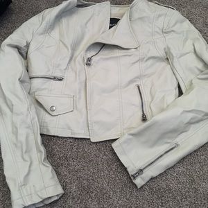 "Maurices ""leather"" shell"