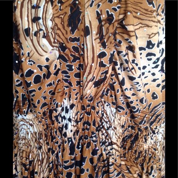 "Gold Flava Tops - ""Bling"" Animal Print Tunic.           NWOT"