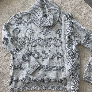 Lucky Brand Fringe Front Sweater