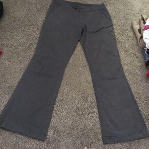 Maurices dress pant 5/6short Grey flair