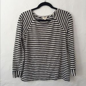 J Crew striped long sleeve tee