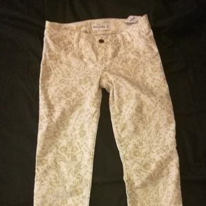Abercrombie girls holiday jeans beige gold 14
