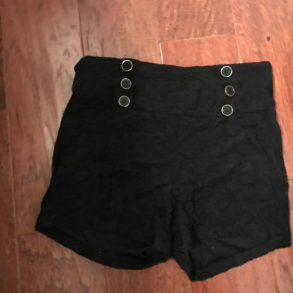 Pants - Black small lace shorts some pulls so low price