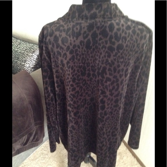 Catherines Other - Velour ANIMAL PRINT Track Suit NWT