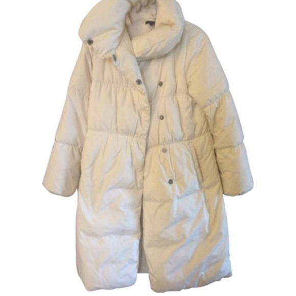 aesthetic appearance buy sale better price Theory Puffy Cream Winter Coat
